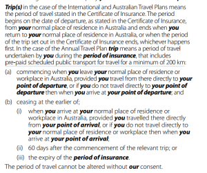 QBE Travel Insurance Dubious