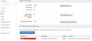 AWS IAM User SSH Key