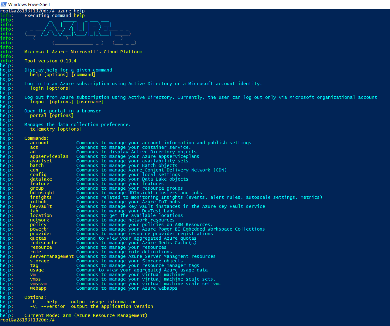 Run Azure CLI Inside Docker On A Macbook Pro